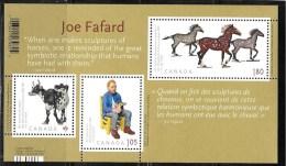 CANADA 2012  #2523, ART CANADA: JOE FAFARD  SS,  HORSE, DEAR VINCENT & THE COW  MNH - Blocks & Sheetlets
