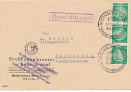 WITTENBERGE - 1957 , Grosshandelskontor Für Lebensmittel - Dienstpost