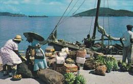 AMERIQUE---ANTILLES--VIERGES---waterfront Vendors St. Thomas Virgin Islands--voir 2 Scans - Vierges (Iles), Amér.