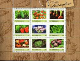 ÖSTERREICH 2015 ** Mein Gemüsegarten - PM Kleinbogen MNH - Ernährung