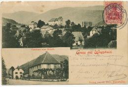 Gruss Aus Wegscheid Gasthaus Zum Hirsch Edit Ph. Born Masmunster Timbrée Oberbruck 1907 - Other Municipalities