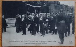 """Funérailles Nationales Des Victimes Du """" Pluviose """" - Le Président Fallières Devant La Marie - Animée - (n°5301) - Evènements"""