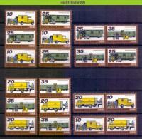 Mwm098b 2 Scans TRANSPORT VRACHTWAGEN TREIN TRUCK TRAIN ZUG POSTFAHRZEUG BAHNPOSTWAGEN DDR 1978 PF/MNH # - Transportmiddelen