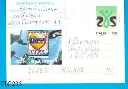 ITALIA, 1993, Cartolina Postale GiochI Gioventù, Viaggiata - 1991-00: Marcophilie