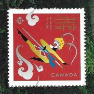 """CANADA  2016, CHINEESE NEW YEAR The MONKEY.  L´annee Du Singe  SINGLE  """"P""""  From Booklet - Carnets"""
