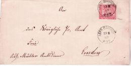 1869- Cover Fr. 1 Groschen  Canc. LEER BAHNHOF - Conf. De L' All. Du Nord