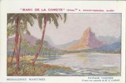 CPA - THEME PUBLICITE - MESSAGERIES MARITIMES - MARC DE LA COMETE - Publicidad
