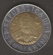 SAN MARINO 500 LIRE 1999 BIMETALLICA - San Marino