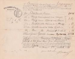 Connaissement 15/7/1880 CABROL Bordeaux Navire TAPAGEUR Capitaine Arnaud Pour Cayenne Guyane - Bitter Pruneaux - Documents Historiques