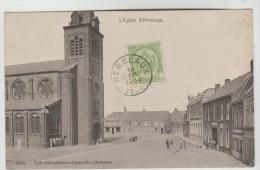 CPA MOUSCRON (Belgique-Hainaut) - HERSEAUX : L´église (et Autour) - Mouscron - Möskrön