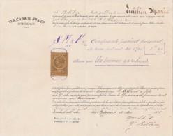 Connaissement 26/5/1886 CABROL Bordeaux Navire EMILIEN MARIE Capitaine Bobéhier Pour Cayenne Guyane - Pommes De Terre - Documentos Históricos