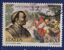 PIA - ITA - 1988 : 450° Della Nascita Di San Carlo Borromeo  - (SAS 1852) - 6. 1946-.. Repubblica