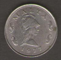 MALTA 2 CENTS 1977 - Malta