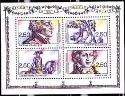 FRANCE 1991       Bicentenaire De La Révolution Française : La Tour D'Auvergne, Arbre De La Liberté, Saint Just - Souvenir Blocks & Sheetlets