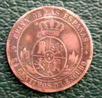 Isabelle II (1833-1868) - 2.5 Centimos De Escudo 1868 - Etoile à 4 Raies - Espagne