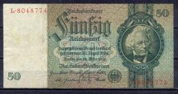 Germany - 1933- 50 Mark   M/L  -    ( VF ) .P-182a ...R 175a - 50 Reichsmark