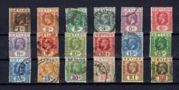 CEYLON...1921-33...mostly Used ...Scott Cat Val = $83.40 - Ceylon (...-1947)