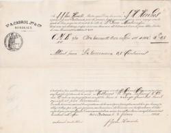 Connaissement 5/2/1884 CABROL Bordeaux Navire HENKES Capitaine Van Heuveln Pour St Pierre Martinique - Sucre - 1800 – 1899