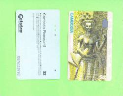 CAMBODIA - Magnetic Phonecard/Temple Mural - Cambodia