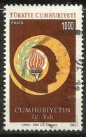 TURKEY 1993 - Mi. 3008 O, Flame Of Freedom   Olive Branch   ATATÜRK (1881-1938) 1st President - 1921-... Republiek