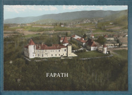 38-VIGNIEU-Vue Aérienne-le Château De Chapeau-Cornu- Non écrite - 2 Scans - 10.5 X 15- SPADEM - Francia