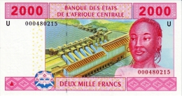 East African States - Afrique Centrale Cameroun 2002 Billet 2000 Francs Pick 208 Neuf 1er Choix UNC - Cameroon