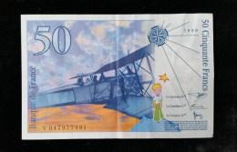 """Billet 50 Francs """"St Exupery""""  -1999 .V.047 - 1992-2000 Last Series"""