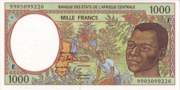 East African States - Afrique Centrale Centrafrique 1999 Billet 1000 Francs Pick 302 F Neuf 1er Choix UNC - República Centroafricana