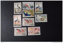 Niger Oiseaux Lot De 9 Timbres Oblitérés - Niger (1960-...)