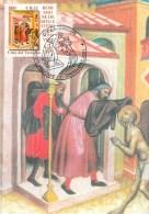 """VATICAN CARTE MAXIMUM NUM.YVERT 1239 ART PEINTURE DE CARLO DI CAMERINO  """"OEUVRES DE BIENFAISANCES"""" - Cartoline Maximum"""