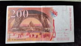 """Billet 200 Francs """"Eiffel""""  -1999,  H.093 - 200 F 1995-1999 ''Eiffel''"""