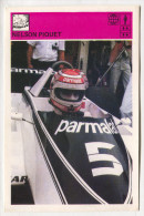 F1 - NELSON PIQUET, SVIJET SPORTA, Trading Card - Grand Prix / F1