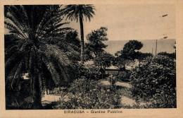 SIRACUSA - GIARDINO PUBBLICO 1926 - Siracusa