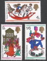 Great Britain. 1968 Christmas. MNH Complete Set. SG 775-777 - 1952-.... (Elizabeth II)