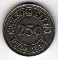 Jeton De Slot Machine à Sou : Casino City Budapest 25¢ - Casino