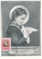D21795 CARTE MAXIMUM CARD 1953 VATICAN - SANTA MARIA GORETTI - PIGEON CP ORIGINAL - Christentum