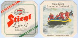 Bierdeckel Österreich Stiegl Leicht-Bier Salzburg Premium Leichtbier Rafting Schlauchboot Stieglbrauerei Austria Boat - Sous-bocks
