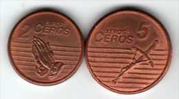 """Lot De 2 Pièces """"Essai"""" : 2 Europ Ceros 2006 & 5 Xeros Ceros 2006 - Gettoni E Medaglie"""