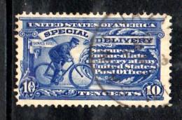 Y1146 - STATI UNITI 1902  , Espresso 10 Cent Azzurro N. 6 Usato Dent 12 Con Filigrana - Stati Uniti