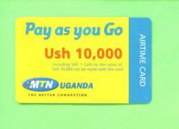 UGANDA - Remote Phonecard As Scan - Uganda