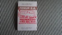 Bus Ticket From Chile - Vina Del Mar/Valparaiso - Fahrkarte - Transportation