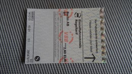S-bahn Ticket From Berlin - Fahrkarte - Mint - Unbenutzt 2,6EUR - Transportation