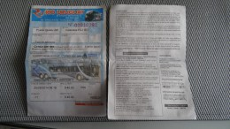 Bus Ticket From Brasil/Argentina - Fahrkarte - Transportation