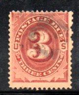 Y725 - STATI UNITI 1884  , Segnatasse 3 Cent N. 10 Usato - United States