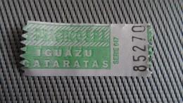 Bus Ticket From Argentina - Puerto Iguazu - Fahrkarte - Transportation