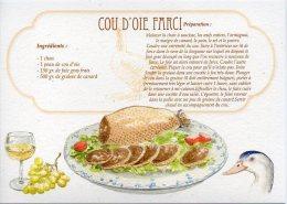 Recette - COU D´OIE FARCI - 00019 RP003 - S.A. APA-POUX - TBE - Recettes (cuisine)