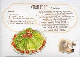 Recette - CHOU FARCI, Cochon - 00019 RP007 - S.A. APA-POUX - TBE - Recettes (cuisine)