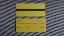 Metro/Subway Ticket From Caracas - Venezuela - Fahrkarte - Old Type - Transportation