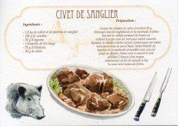 Recette - CIVET DE SANGLIER, Tête De Sanglier - 00019 RP014 - S.A. APA-POUX - TBE - Recettes (cuisine)