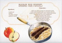 Recette - BOUDIN AUX POMMES, Cochon - 00019 RP016 - S.A. APA-POUX - TBE - Recettes (cuisine)